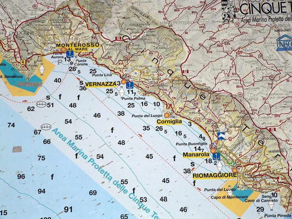 The Cinque Terre Trail Map