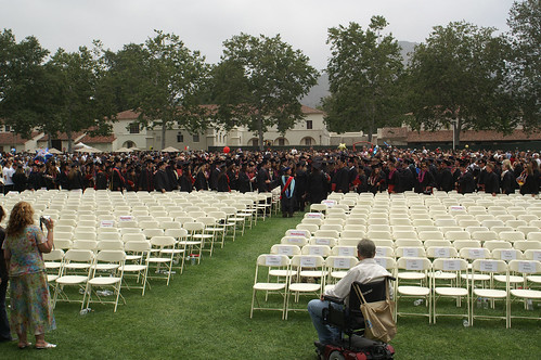 Students Walking Into Graduation Ceremony | by California State University Channel Islands