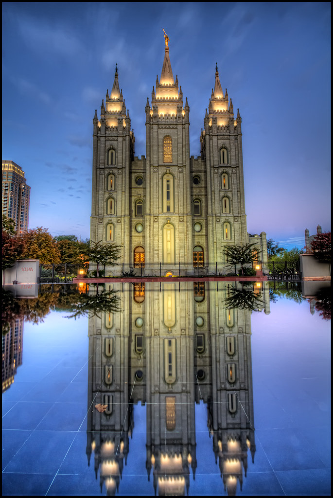 Lds Temple Salt Lake City Lds Temple From The Oval