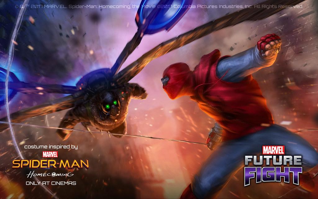 搭上電影熱潮,《MARVEL未來之戰》推出蜘蛛人反派角色。(網石遊戲提供)