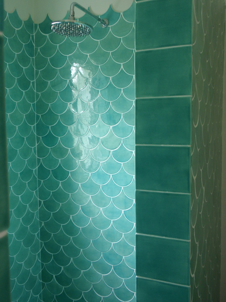 Mermaid Tile Bathroom