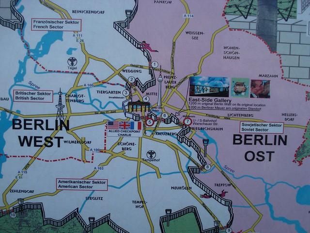 Map Of Former East West Berlin Eric Ritter Flickr - Berlin map east west