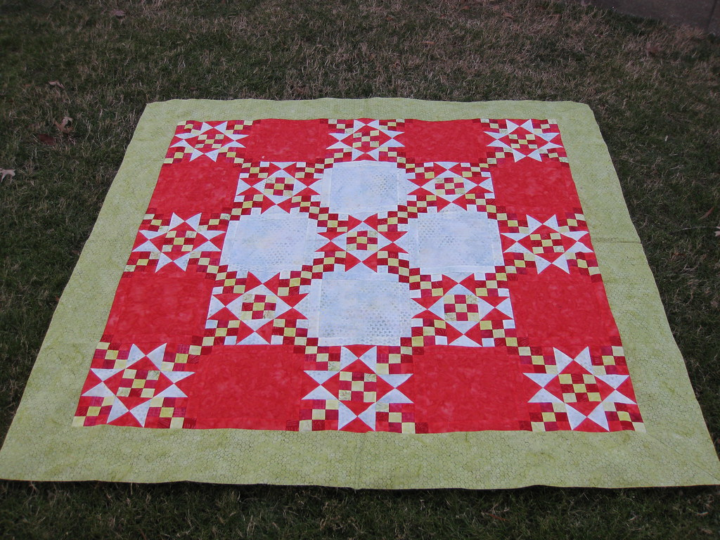 Non-traditional Christmas quilt top Used the
