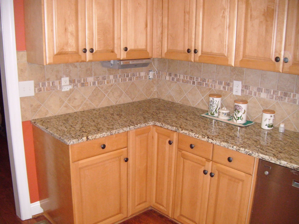 ... Santa Cecilia Granite With Tile Backsplash   Charlotte, NC | By Granite  Charlotte Images