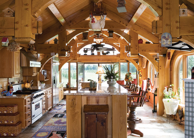 ultimate getaway home timber frame home kitchen this tim flickr