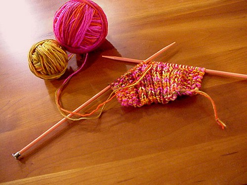 knitting brings me solace  and serenity it