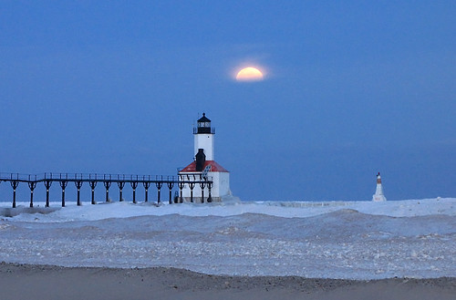 Michigan City Lighthouse Taken From The Beach While A Full Flickr