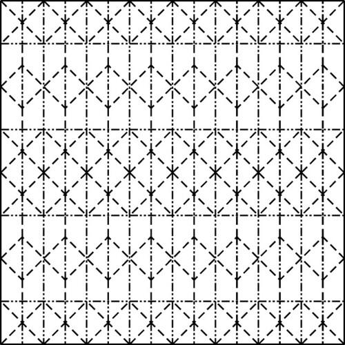 Pineapple Tessellation Crease Pattern