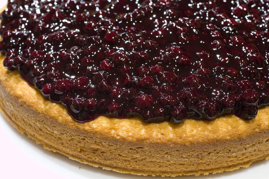 Blueberry Cake With Almond Flour And Chocolate Glaze