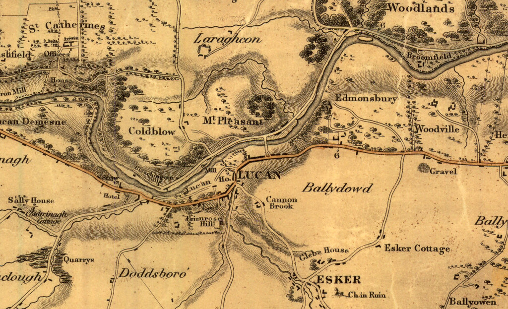 Duncans Map of Lucan Village 1821 For more historical an Flickr