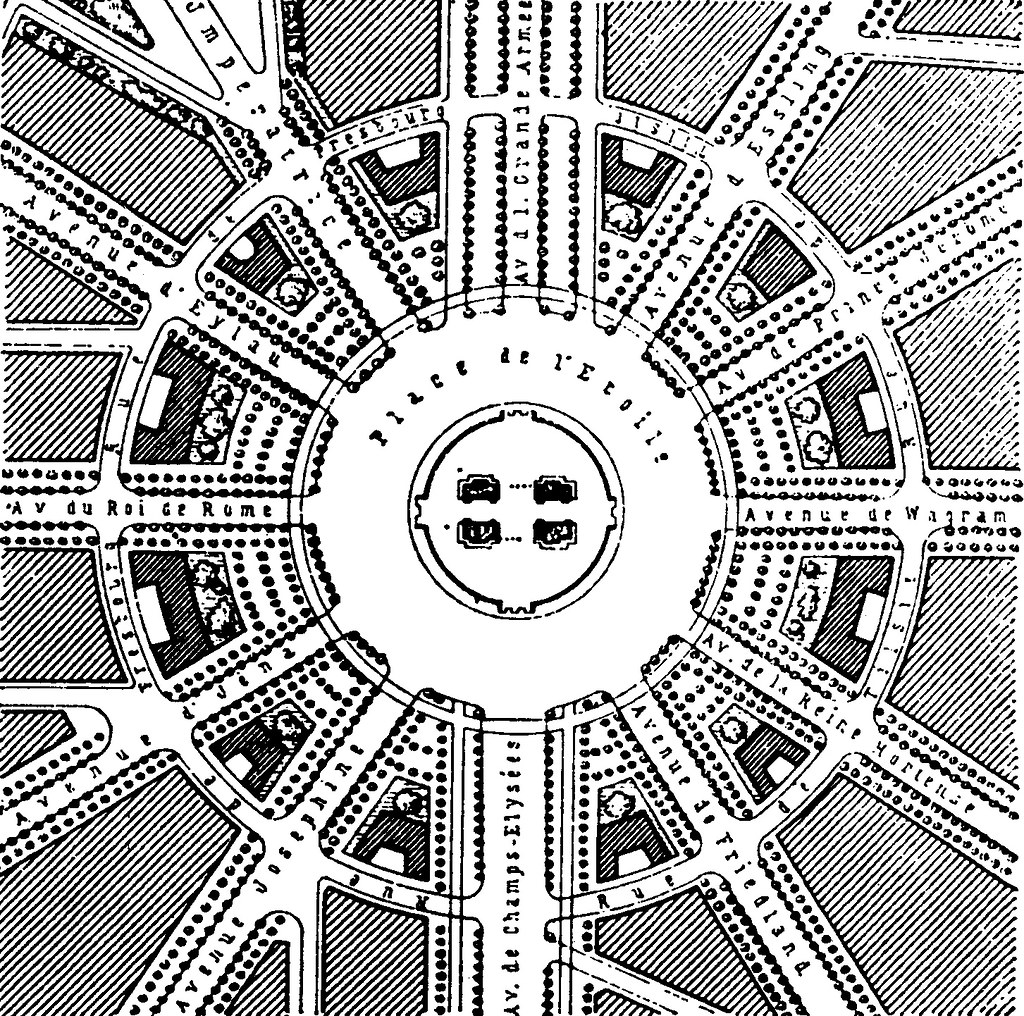 Qa461 The Radial Pattern Of Avenues Around The Arc The T