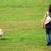 Vanille walking with Kiana