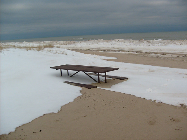 Buried Beach Bench Flickr Photo Sharing