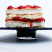 Strawberries & Cream Meringue Cake
