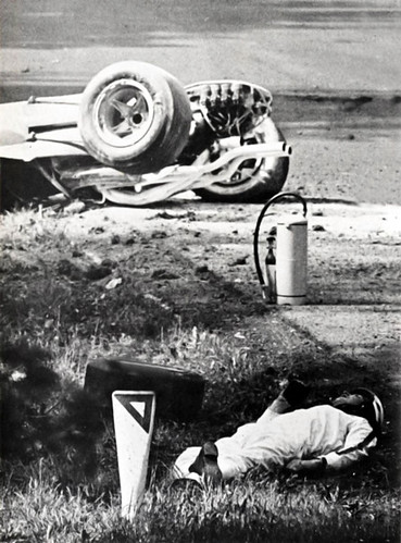 Helmuth Koinigg Death >> Mike Parkes accident at Spa, Belgium 1967 | British driver M… | Flickr
