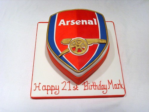 Arsenal Birthday Cake  www.thecustomcakeshop.co.uk Please f ...