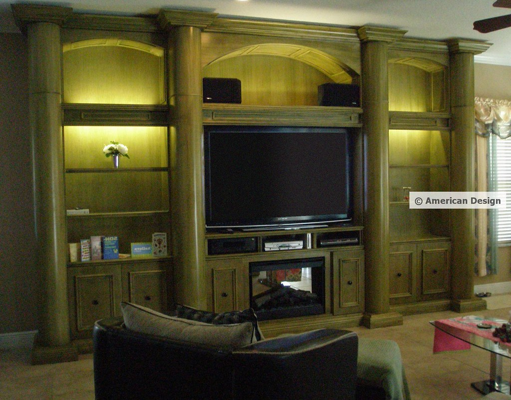 wall unit with columns arches built in fireplace and fla u2026 flickr