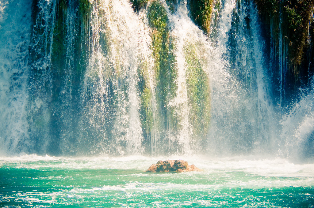 Waterfall in Krka National Park, Croatia