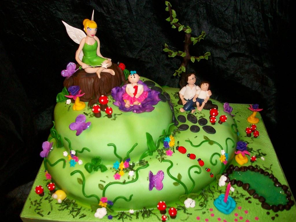 Tinkerbell  Tier Birthday Cakes