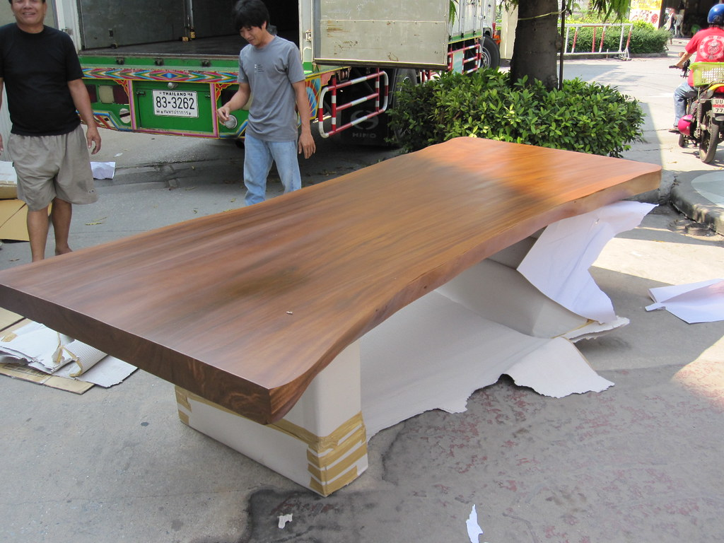 Dining Table Reclaimed Free Form Solid Slab Acacia Wood 10 Seater Rare    by Flow with. Dining Table Reclaimed Free Form Solid Slab Acacia Wood 10    Flickr