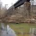 Rail bridge and water