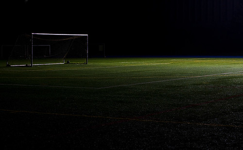 Empty Soccer Field Night