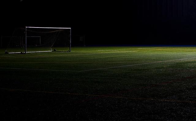 Empty Soccer Field Night Empty Soccer Field 2 by