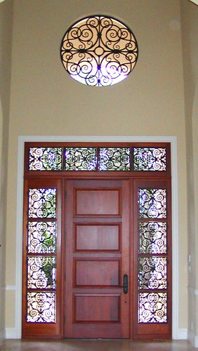 Faux Iron Entry Door Window Inserts The Decorative Iron