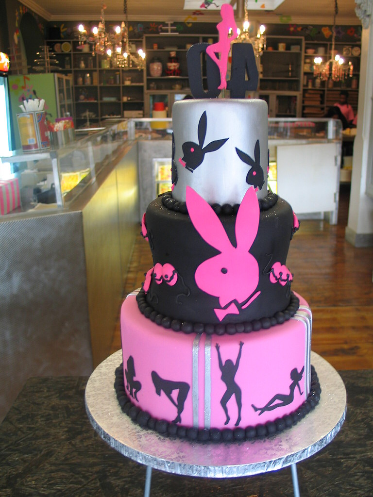 Playboy Bunny 3 Tiered Birthday Cake Playboy Bunny 3