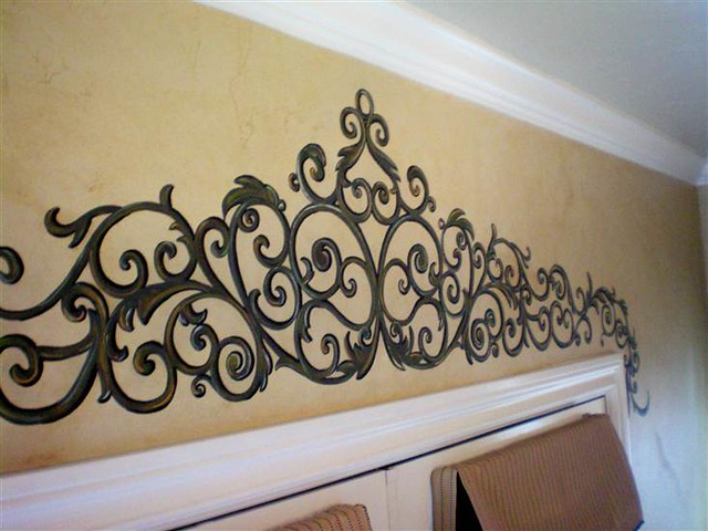 painted wrought iron over french doors suzy eaton flickr. Black Bedroom Furniture Sets. Home Design Ideas