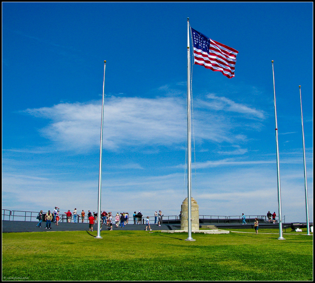 Flag Over Fort Sumter Us Flag Flying Over Fort Sumter