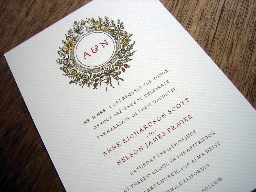 Wedding Invitations Software Free: Monogram Printable Wedding Invitation