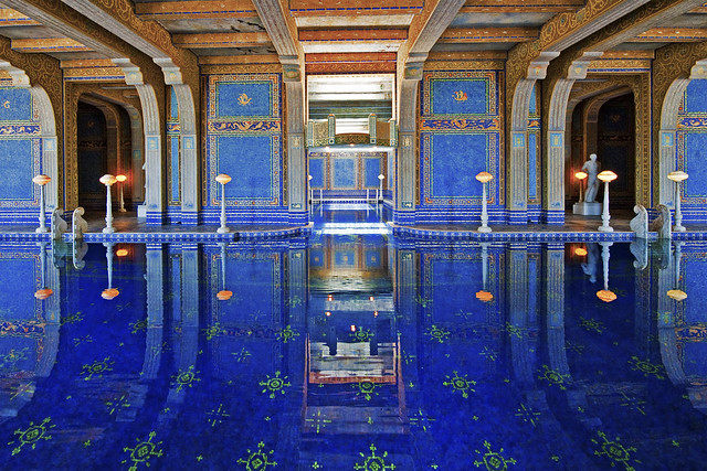Hearst castle roman pool flickr photo sharing for Castle gardens pool