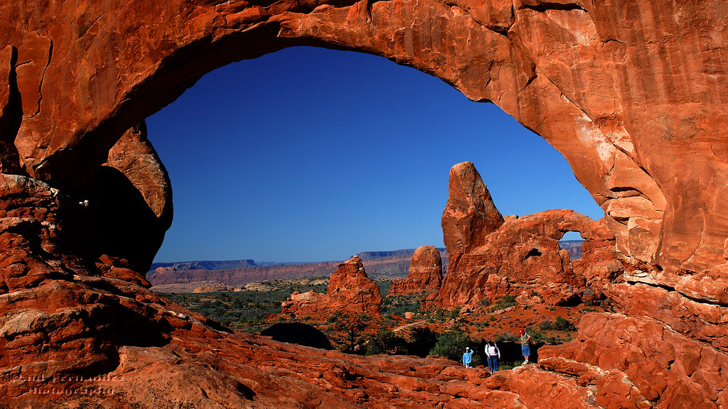 Turret Arch Viewed Through North Window At Arches National
