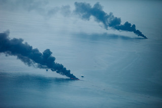Burning Off The Surface Oil From BP's Deepwater OilSpill | by Kris Krug