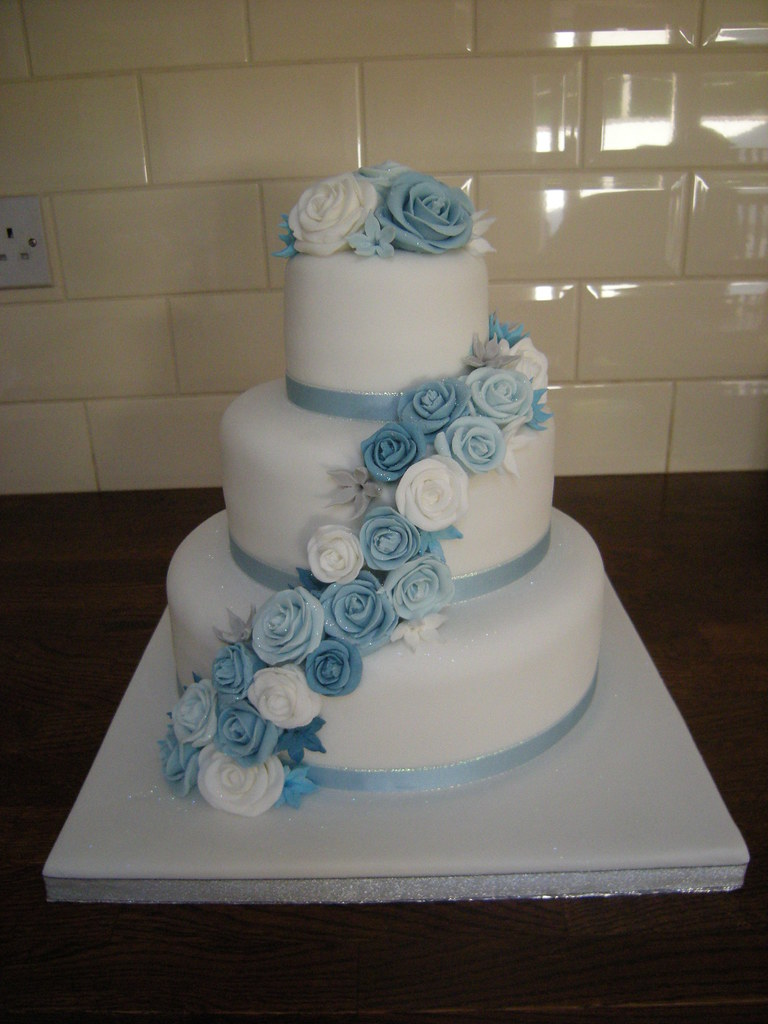 baby blue and silver wedding cakes blue wedding cake s cakes flickr 10993