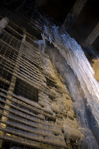 Wall of Icicles under a bridge in Manchester 1 | by gifster1983