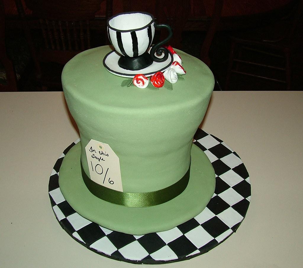 Mad Hatter Hat Birthday Cake