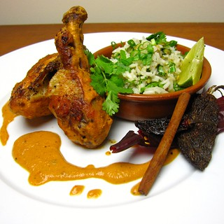 Pollo en Salsa de Cacahuate (Chicken w/ Chipotle Peanut Sauce) | by SeppySills