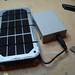 Charging internal battery with solar panel