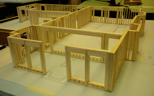 Balsa Wood Model House 1st Floor Exterior Walls Flickr