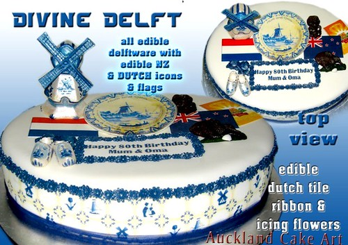 DIVINE DELFT NEW ZEALAND HOLLAND BIRTHDAY CAKE handmade ...