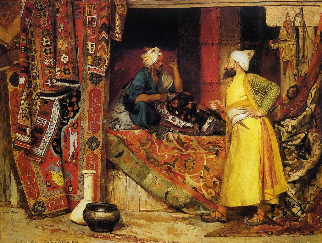 Carpet Seller Artist Vibert Jean Georges 1840 1902