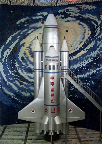 Space shuttle in Children Palace - Pyongyang North Korea | by Eric Lafforgue