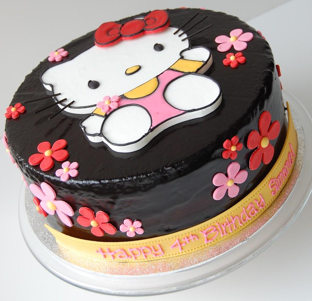 Simone S Hello Kitty Birthday Cake Front Chocolate