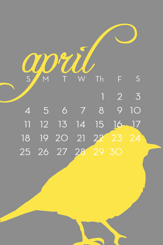 April 2010 iPhone Wallpaper with calendar | Flickr - Photo Sharing!