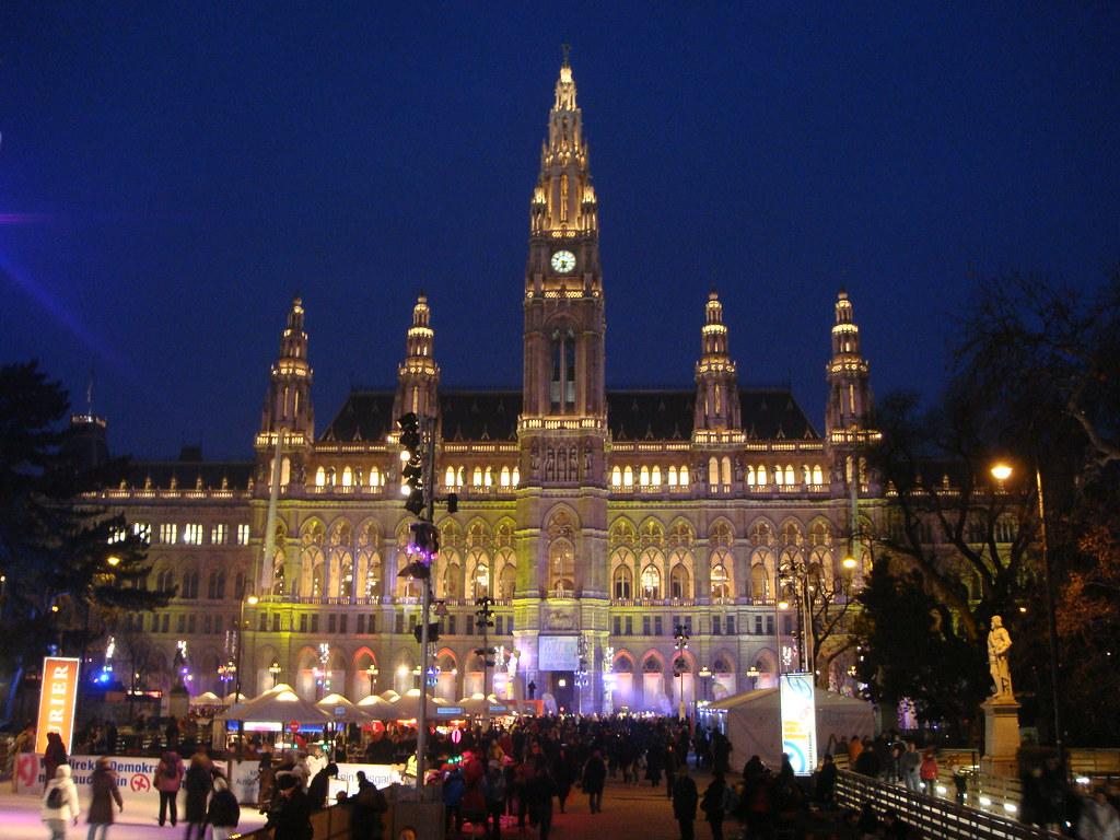 Wien Winter Party In Front Of The City Hall Wien