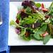 springtime fresh strawberry and salad with rosemary-lemon vinaigrette