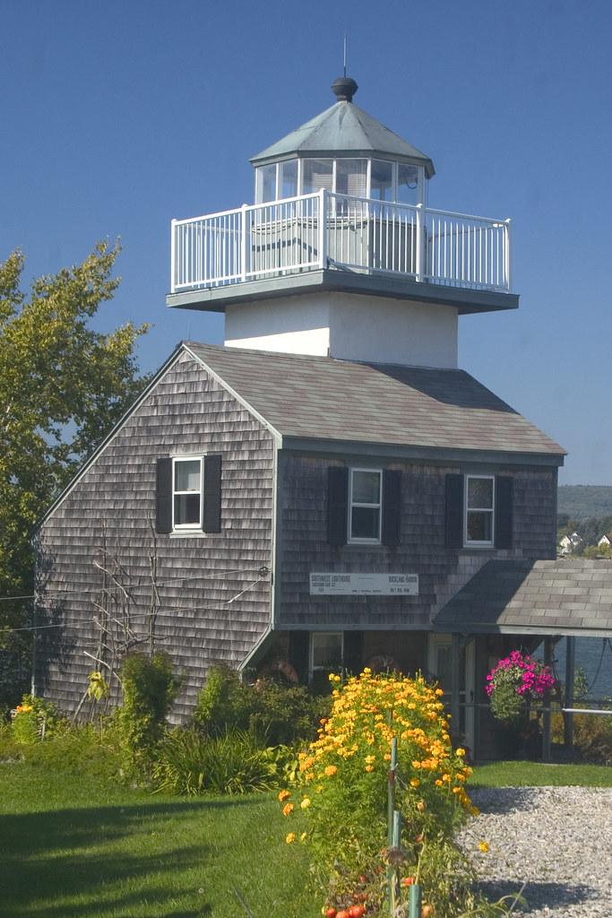 Rockland Harbor Southwest Lighthouse Maine Rockland