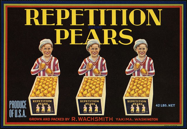 Repetition Pears: Produce of U.S.A., grown and packed by R ...